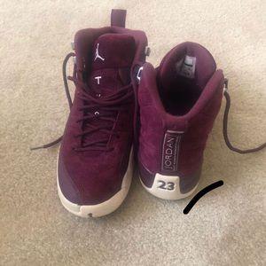Jordan Bordeaux 12s—BURGUNDY SUEDE
